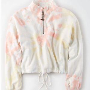 Quarter Zip Cinched Crop Sweater